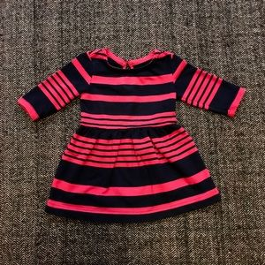 Gap striped dress pink and navy size 2y